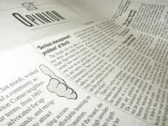 Newspaper opinion section